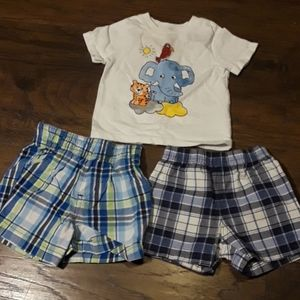Granimals and Carter's three lot clothes items